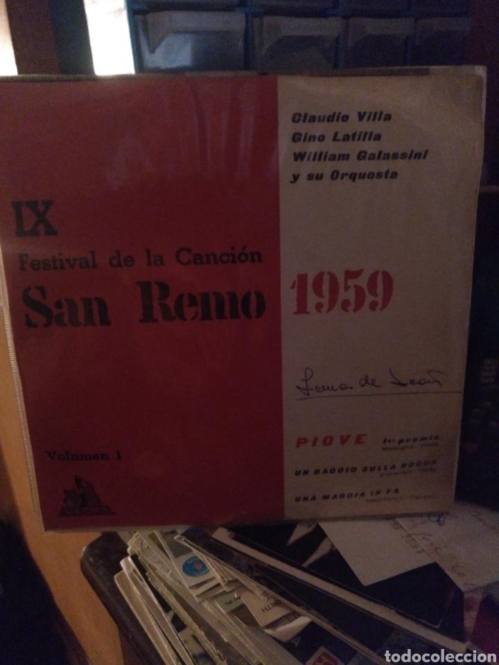 SAN REMO 1959 (Música - Discos de Vinilo - EPs - Otros Festivales de la Canción)