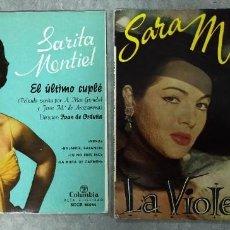 Discos de vinilo: 2 DISCOS DE 7 PULGADAS DE SARA MONTIEL ( EL ULTIMO CUPLE Y LA VIOLETERA). Lote 276758438