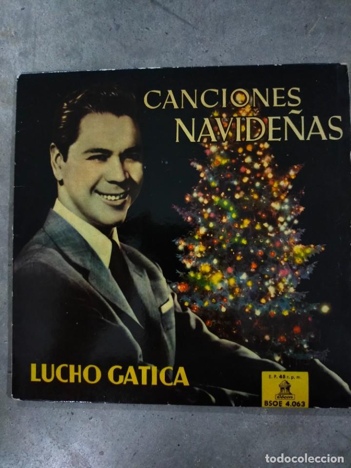 DISCO 7 PULGADAS 1958.LUCHO GATICA - CANCIONES NAVIDEÑAS -. ODEON (Música - Discos de Vinilo - Maxi Singles - Cantautores Internacionales)
