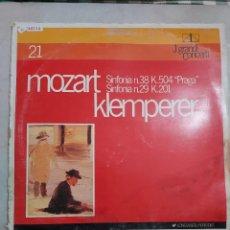 Discos de vinilo: 48214 - J. GRANDI CONCERTI - MOZART KLEMPERER - SINFONIA Nº 38 - SINFONIA Nº 29. Lote 276781198
