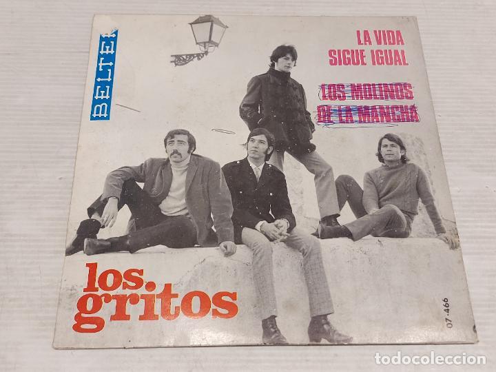 Discos de vinilo: LOS GRITOS / LA VIDA SIGUE IGUAL-LOS MOLINOS DE LA MANCHA / SINGLE-BELTER-1968 / MBC. ***/*** - Foto 2 - 276787033