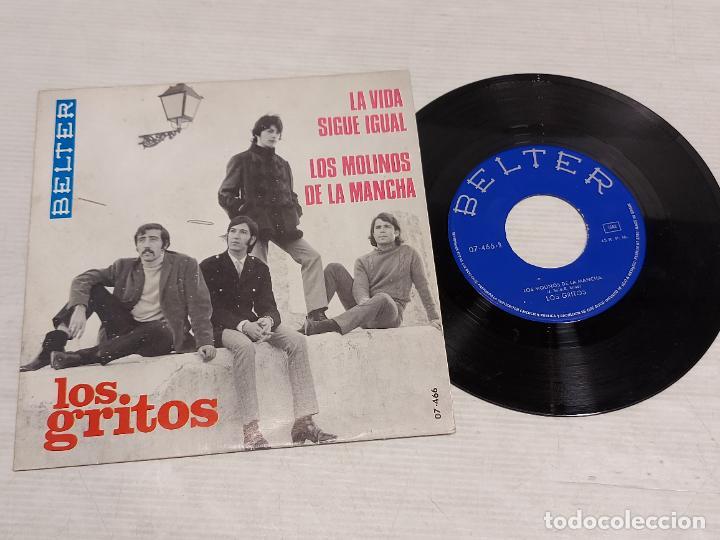 LOS GRITOS / LA VIDA SIGUE IGUAL-LOS MOLINOS DE LA MANCHA / SINGLE-BELTER-1968 / MBC. ***/*** (Música - Discos - Singles Vinilo - Grupos Españoles 50 y 60)