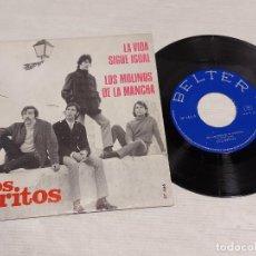 Discos de vinilo: LOS GRITOS / LA VIDA SIGUE IGUAL-LOS MOLINOS DE LA MANCHA / SINGLE-BELTER-1968 / MBC. ***/***. Lote 276787033