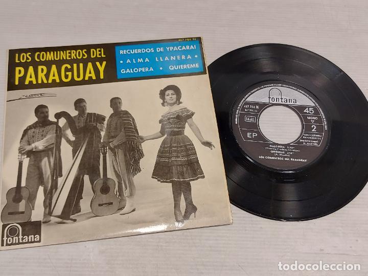 LOS COMUNEROS DEL PARAGUAY / RECUERDOS DE YPACARAI + 3 / EP-FONTANA-1965 / MBC. ***/*** (Música - Discos de Vinilo - EPs - Grupos y Solistas de latinoamérica)