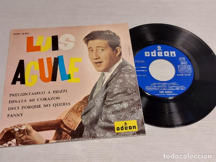 LUIS AGUILE / PREGÚNTASELO A FRIZZI + 3 /EP - ODEON-1964 / LUJO. ****/**** (Música - Discos de Vinilo - EPs - Grupos y Solistas de latinoamérica)