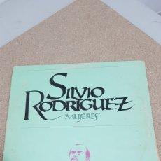 Disques de vinyle: LP SILVIO RODRIGUEZ MUJERES. Lote 276790823