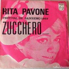 Discos de vinilo: RITA PAVONE - ZUCCHERO PHILIPS - 1969. Lote 276798358