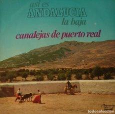 Discos de vinilo: CANALEJAS DE PUERTO REAL LP SELLO OLYMPO EDITADO EN ESPAÑA AÑO 1973.... Lote 276799208