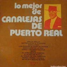 Discos de vinilo: CANALEJAS DE PUERTO REAL LP SELLO OLYMPO EDITADO EN ESPAÑA AÑO 1972.... Lote 276799603
