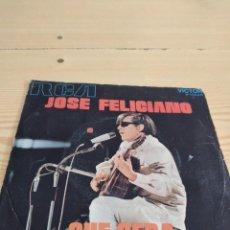 Discos de vinil: BAL-4 DISCO CHICO 7 PULGADAS MUSICA JOSE FELICIANO QUE SERA. Lote 276802873