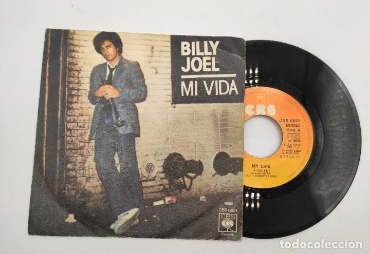 """Discos de vinilo: Vinilo de 7 pulgadas de Billy Joel que contiene """"my life"""" y """"52ND Street"""". Discográfica: CBS. - Foto 3 - 276909453"""