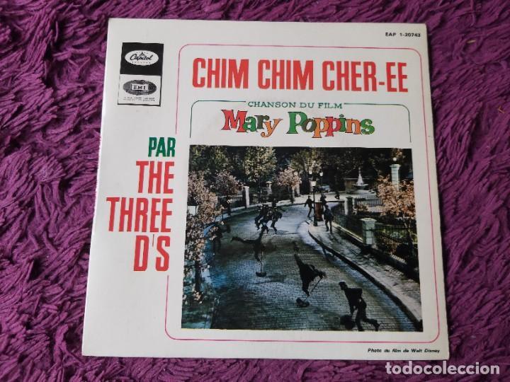 "THE THREE D'S – CHIM CHIM CHIR-EE, VINYL 7"" EP FRANCE EAP 1-20743 (Música - Discos de Vinilo - EPs - Bandas Sonoras y Actores)"