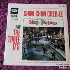 "Discos de vinilo: THE THREE D'S – CHIM CHIM CHIR-EE, VINYL 7"" EP FRANCE EAP 1-20743. Lote 276911363"
