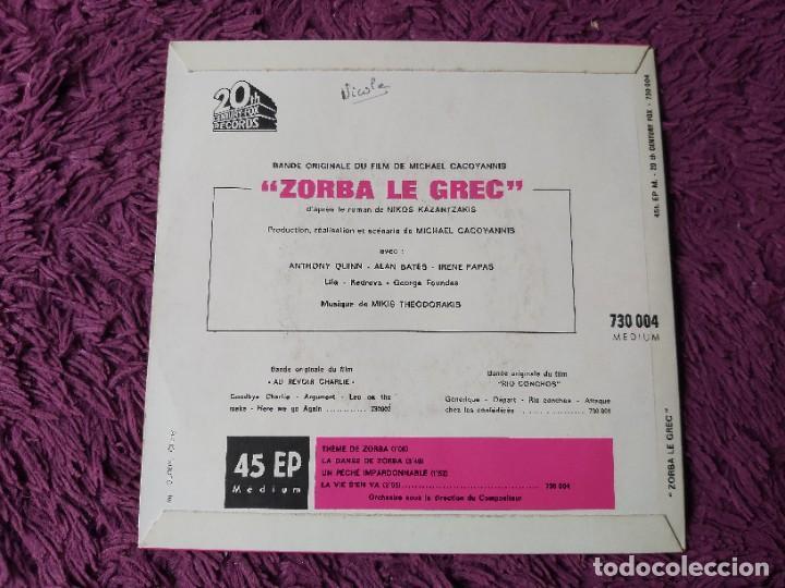 "Discos de vinilo: Mikis Theodorakis - Zorba Le Grec ,Vinyl 7"" EP France 730.004 M - Foto 2 - 276926188"