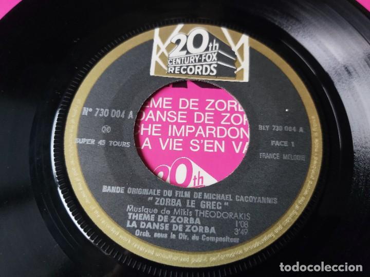 "Discos de vinilo: Mikis Theodorakis - Zorba Le Grec ,Vinyl 7"" EP France 730.004 M - Foto 3 - 276926188"