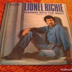 Discos de vinilo: LIONEL RICHIE SINGLE RUNNING WITH THE NIGHT MOTOWN PROMOCIONAL ESPAÑA 1983. Lote 276926488