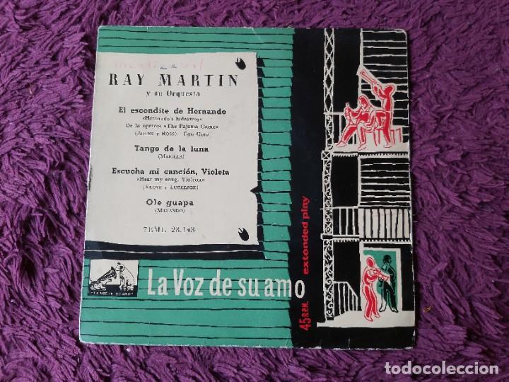 """RAY MARTIN Y SU ORQUESTA – EL ESCONDITE DE HERNANDO ,VINYL 7"""" EP SPAIN 1958 7EML 28.143 (Música - Discos de Vinilo - EPs - Grupos y Solistas de latinoamérica)"""