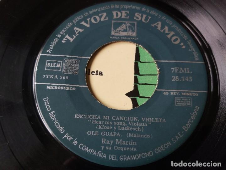 """Discos de vinilo: Ray Martin y Su Orquesta – El Escondite De Hernando ,Vinyl 7"""" EP Spain 1958 7EML 28.143 - Foto 3 - 276926928"""