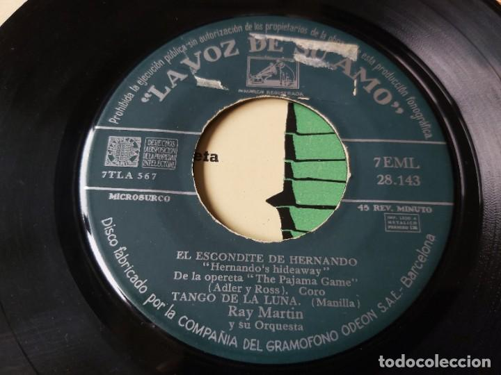 """Discos de vinilo: Ray Martin y Su Orquesta – El Escondite De Hernando ,Vinyl 7"""" EP Spain 1958 7EML 28.143 - Foto 5 - 276926928"""