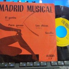 Discos de vinilo: CONJUNTO GRACIANO EP PROMOCIONAL EL GATITO + 3 1973 CALANDRIA. Lote 276931923