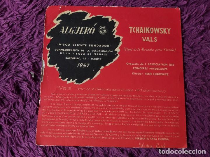 """Discos de vinilo: Algueró - Sibelius ,Vinyl 7"""" Single 1957 Spain Disco Cliente Fundador - Foto 2 - 276933548"""