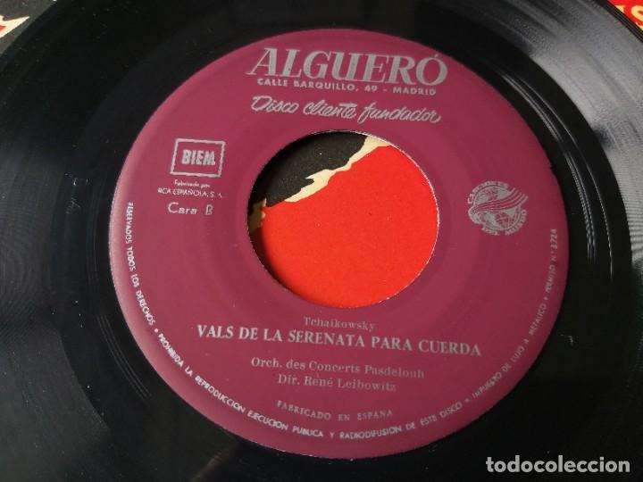 """Discos de vinilo: Algueró - Sibelius ,Vinyl 7"""" Single 1957 Spain Disco Cliente Fundador - Foto 5 - 276933548"""