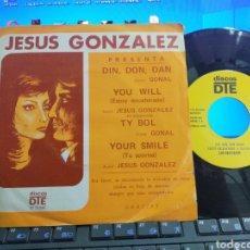 Discos de vinilo: LOS GRACIANOS EP PROMOCIONAL DIN,DON,DAN + 3 1973 DISCOS DTE. Lote 276936143