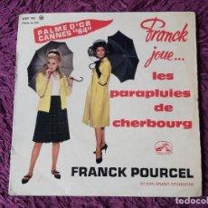 """Discos de vinilo: FRANCK POURCEL - LES PARAPLUIES DE CHERBOURG ,VINYL 7"""" EP 1964 FRANCE EGF 715. Lote 276937618"""