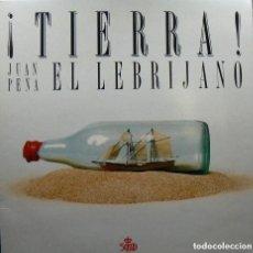 """Discos de vinilo: DISCO LP VINILO - ¡TIERRA! JUAN PEÑA """"EL LEBRIJANO"""" - 2 DISCOS - 1989. Lote 276939833"""