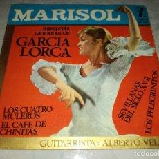 Discos de vinilo: MARISOL INTERPRETA CANCIONES DE GARCIA LORCA. LOS CUATRO MULEROS-ORIGINAL AÑO 1964. Lote 276940088