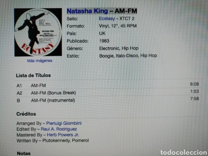 Discos de vinilo: Natasha King - AM-FM - Foto 3 - 276941313