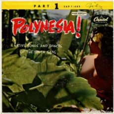 Discos de vinilo: THE ROYAL POLYNESIANS FEATURING CHARLES MAUU – POLYNESIA! - EP NETHERLANDS - CAPITOL RECORDS . Lote 276943213