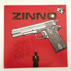 Discos de vinilo: ZINNO – WHAT'S YOUR NAME? / WHAT'S YOUR NAME? (INSTR.) SWEDEN,1985 BEAT BOX. Lote 276943748
