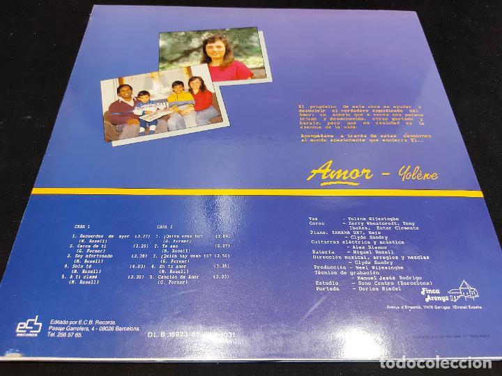 Discos de vinilo: YOLÈNE / AMOR / LP - ECB RECORDS-1987 / MBC. ***/*** LETRAS. - Foto 2 - 276947108