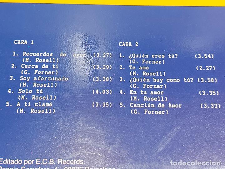 Discos de vinilo: YOLÈNE / AMOR / LP - ECB RECORDS-1987 / MBC. ***/*** LETRAS. - Foto 3 - 276947108