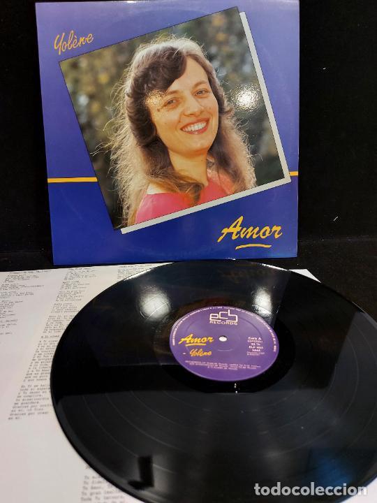 YOLÈNE / AMOR / LP - ECB RECORDS-1987 / MBC. ***/*** LETRAS. (Música - Discos - LP Vinilo - Étnicas y Músicas del Mundo)