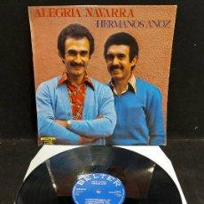 Discos de vinilo: HERMANOS ANOZ / ALEGRÍA NAVARRA / LP - BELTER-1979 / MBC. ***/***. Lote 276948108