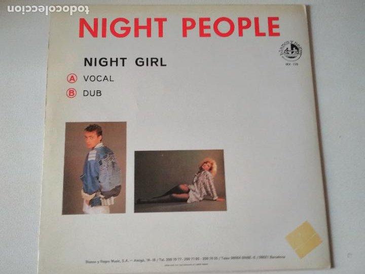 Discos de vinilo: NIGHT PEOPLE, NIGHT GIRL, MIXED BY RAUL ORELLANA , blanco y negro, 1987, ITALO - Foto 2 - 276953813