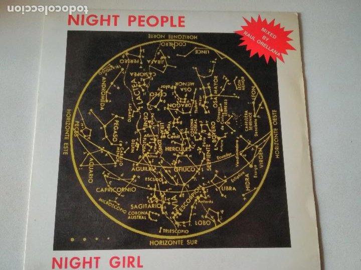 NIGHT PEOPLE, NIGHT GIRL, MIXED BY RAUL ORELLANA , BLANCO Y NEGRO, 1987, ITALO (Música - Discos de Vinilo - Maxi Singles - Disco y Dance)