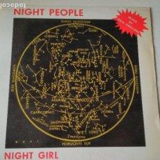 Discos de vinilo: NIGHT PEOPLE, NIGHT GIRL, MIXED BY RAUL ORELLANA , BLANCO Y NEGRO, 1987, ITALO. Lote 276953813