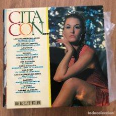 Discos de vinilo: VV.AA. - CITA CON... - LP BELTER 1967 - LOS STOP, ROCKING BOYS, SABRINA, LOS CATINOS, TONY DALLARA. Lote 276956108