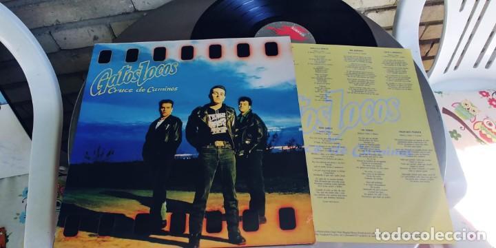 GATOS LOCOS-LP CRUCE DE CAMINOS-ENCARTE LETRAS (Música - Discos - LP Vinilo - Grupos Españoles de los 70 y 80)