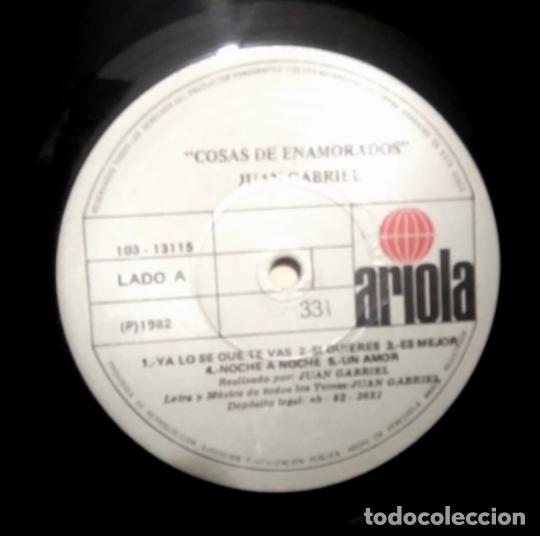 Discos de vinilo: Juan Gabriel – Cosas De Enamorados, vinilo, LP. - Foto 4 - 276963323
