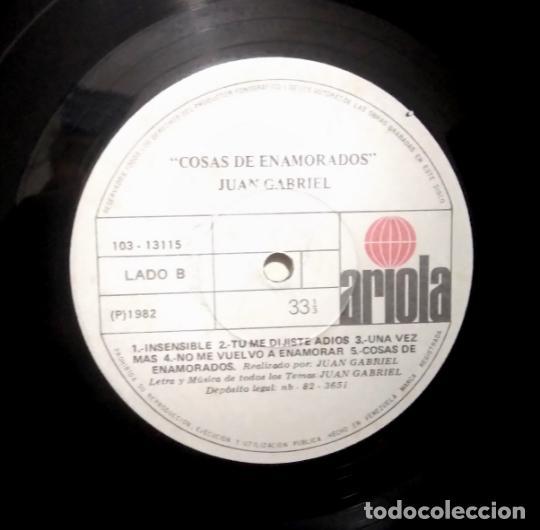 Discos de vinilo: Juan Gabriel – Cosas De Enamorados, vinilo, LP. - Foto 5 - 276963323
