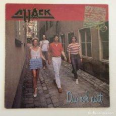 Discos de vinilo: ATTACK – DAG OCH NATT / GRÖNT LJUS SWEDEN,1982 EPIC. Lote 276977478