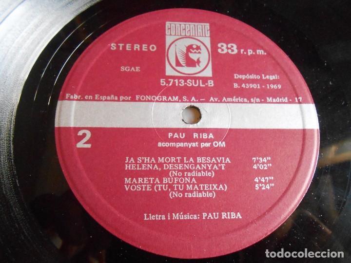 Discos de vinilo: PAU RIBA - DIOPTRIA -, LP, KITHOU + 7, AÑO 1969 - Foto 9 - 276990383