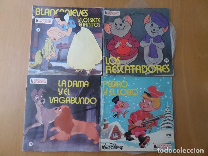 WALT DISNEY / BLANCANIEVES / DAMA Y VAGABUNDO / RESCATADORES ... EPS CUENTOS Y MAS DISCOS DE VINILO (Música - Discos de Vinilo - EPs - Bandas Sonoras y Actores)
