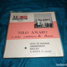 Discos de vinilo: NILO AMARO E SEUS CANTORES DE EBANO. EP. ODEON, EDC. BRASIL . IMPECABLE(#). Lote 277011243
