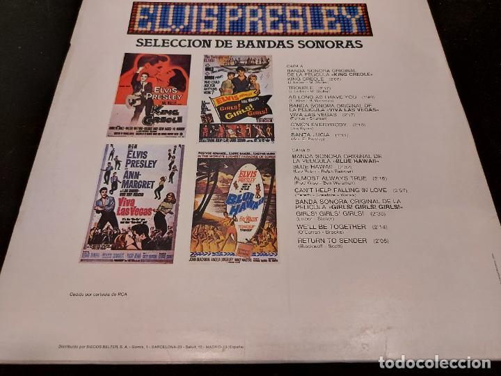 Discos de vinilo: ELVIS PRESLEY / HISTORIA DE LA MÚSICA EN EL CINE / 3 / LP - BELTER-1982 / MBC. ***/*** - Foto 2 - 277014498