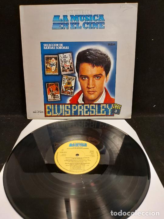 ELVIS PRESLEY / HISTORIA DE LA MÚSICA EN EL CINE / 3 / LP - BELTER-1982 / MBC. ***/*** (Música - Discos - LP Vinilo - Bandas Sonoras y Música de Actores )